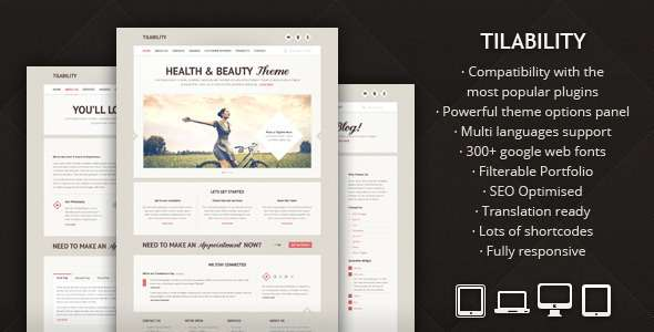 Tilability - Responsive Health & Beauty WP theme - Health & Beauty Retail