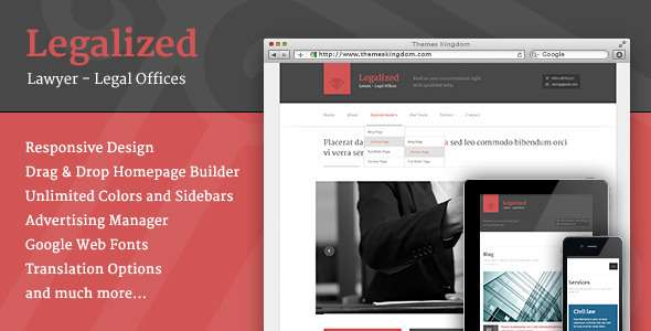 Legalized - Modern Business WordPress Theme  - Business Corporate