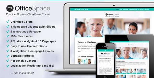 Office Space: Responsive Business WordPress Theme - Health & Beauty Retail