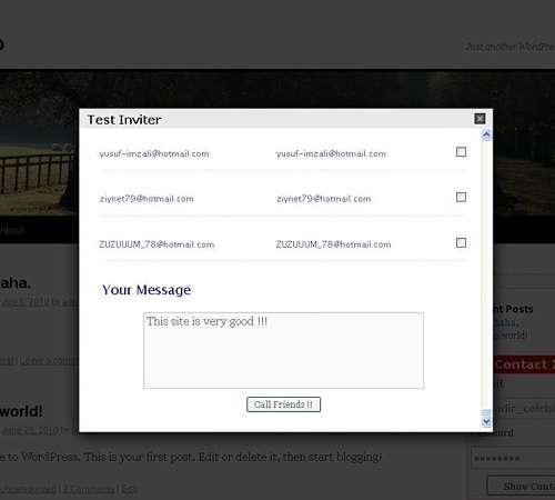 Contact - Friend Inviter Gold plugin & Widget