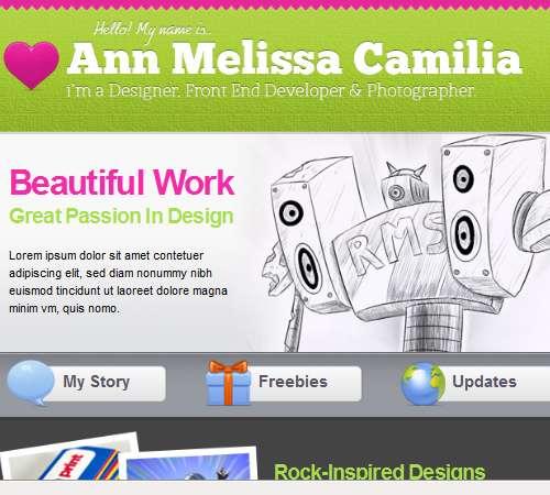 portfolio html email template