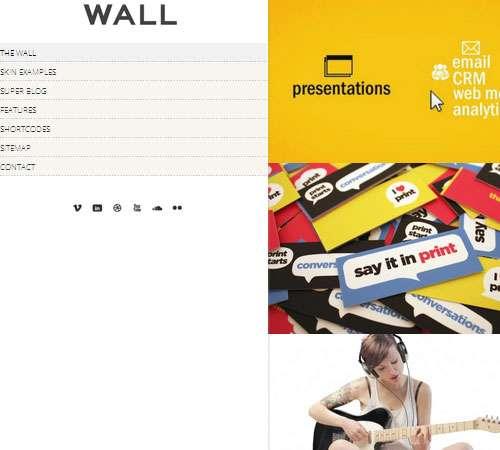 Wall - Responsive theme for WordPress
