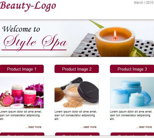 beauty email template