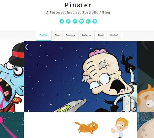 Pinster - Full Width Portfolio WP Theme