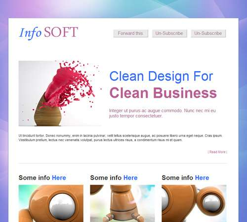 infosoft professional email template