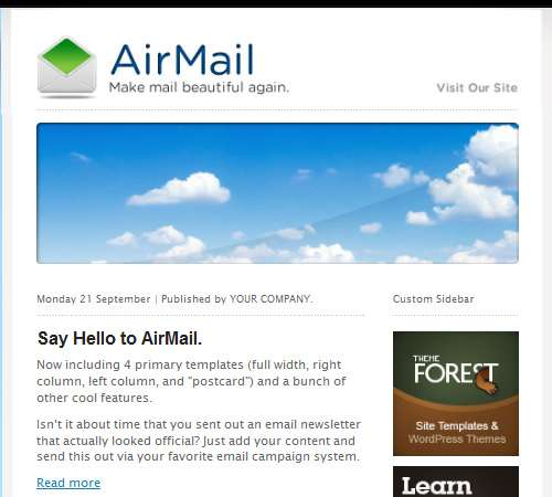 airmail customizable email template