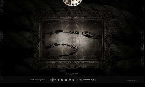 Creepy But Highly Elegant Black and White Website