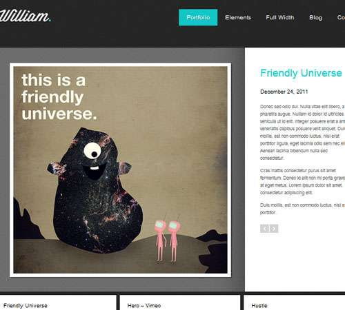 William - Portfolio WordPress Theme