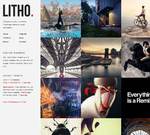 Litho | WordPress Theme for Visual Enthusiasts