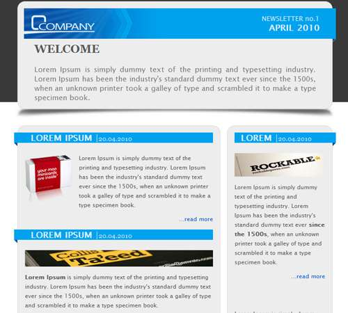 Sample Company Newsletter Template