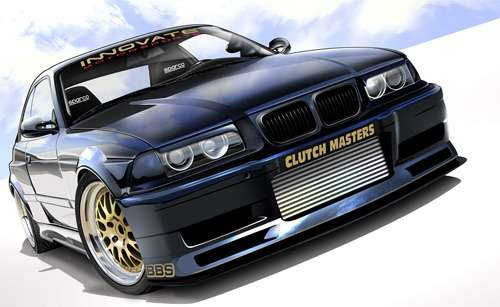 Bmw turbo cars vexels vectors illustrations
