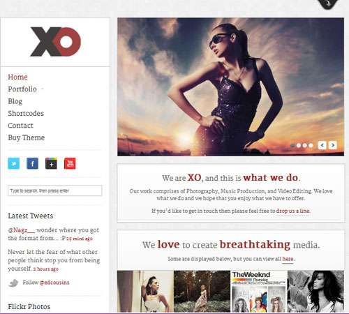 XO - Responsive Creative WordPress Theme
