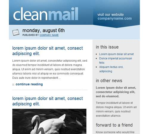 cleanmail email template