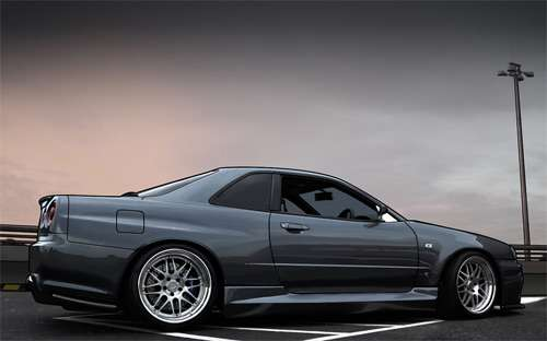 Nissan skyline cars vexels vectors illustrations