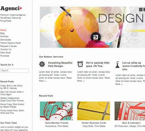 Agenci: Responsive Creative/Agency WordPress Theme