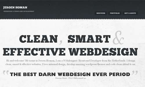 Simply Effective Black and White Website
