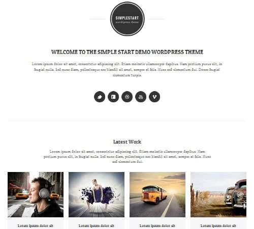 SimpleStart - Responsive Portfolio & Blog Theme