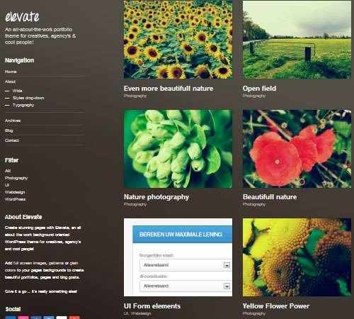Elevate: Background Oriented Portfolio WP Theme