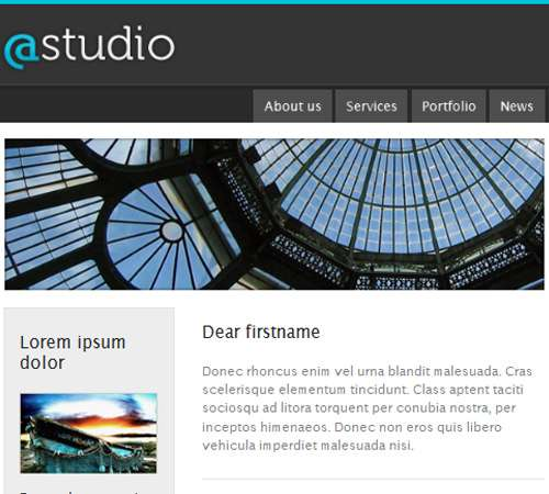 studio email template