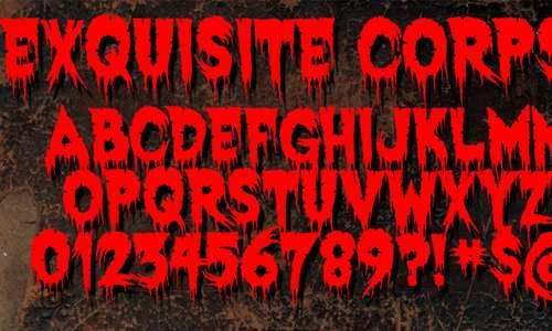 Exquisite Corpse font