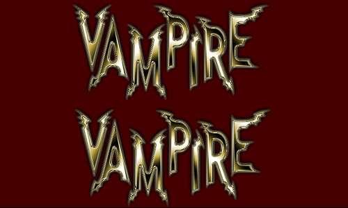 vampire font