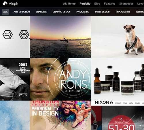 Aleph - Portfolio for Agencies and Freelancers