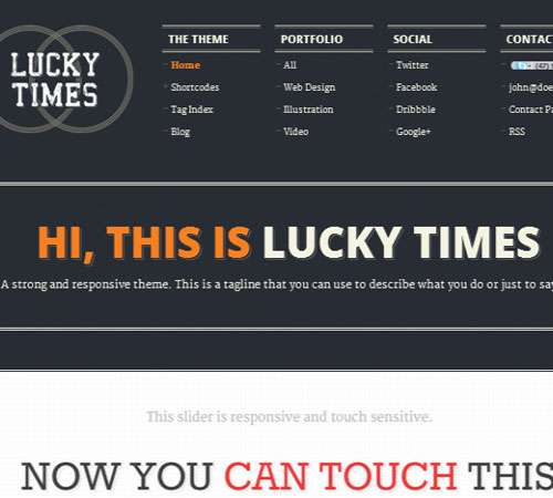 Lucky Times. Responsive.