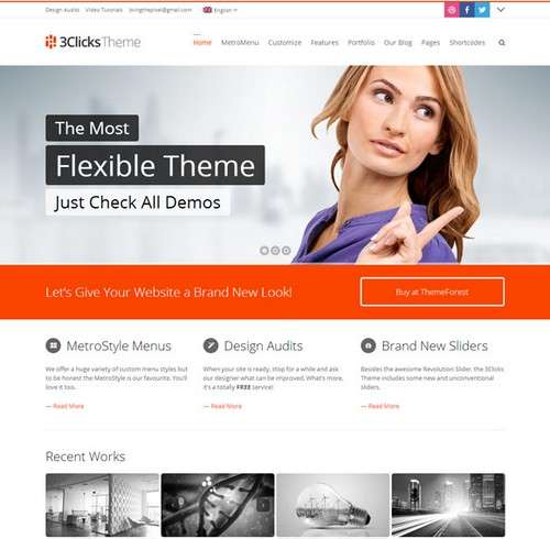 3Clicks Business WordPress Theme