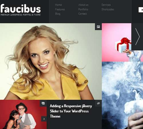 Faucibus - Responsive Portfolio Grid Theme