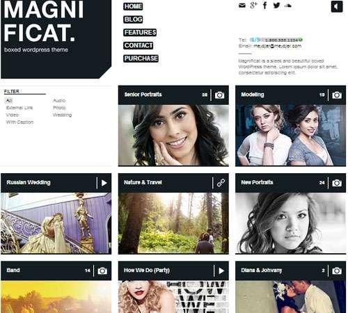 MAGNIFICAT Photography Responsive WordPress Theme