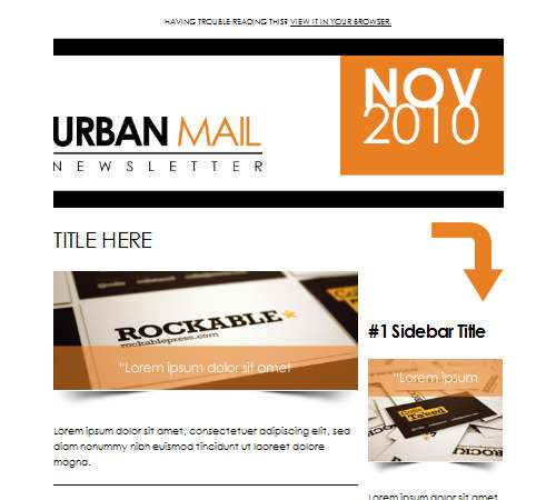 urbanmail beautiful email