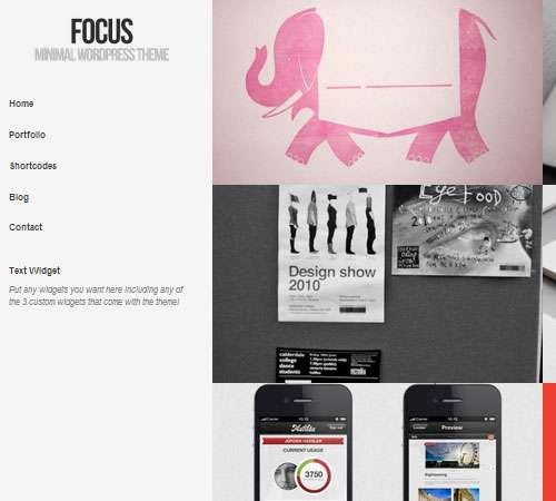 Focus - Minimal WordPress Theme