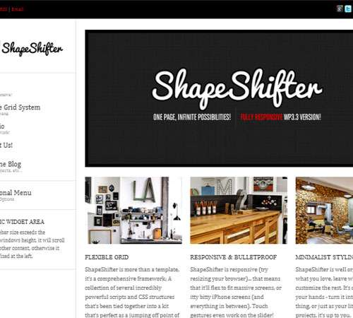 ShapeShifter 2 : Responsive, Flexible, One Page
