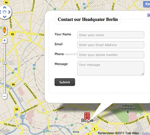 Mapped contact form pro WordPress