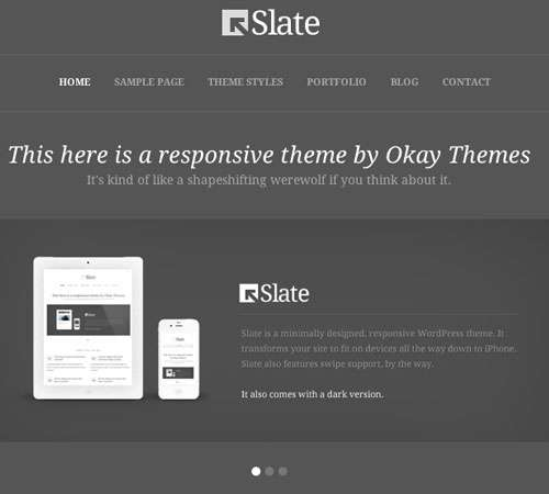 Slate Responsive WordPress Theme