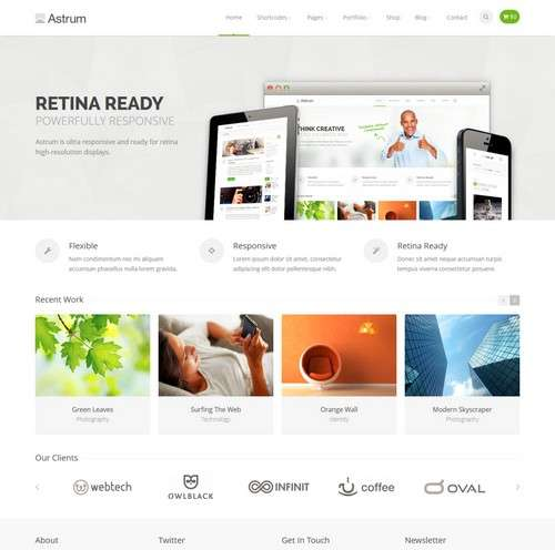 Astrum Clean Design WP Theme