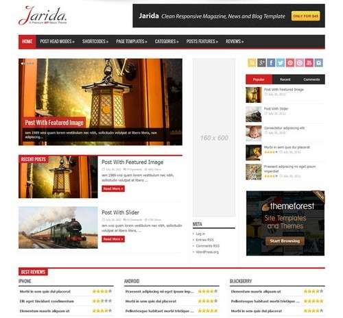 Jarida WordPress News Theme