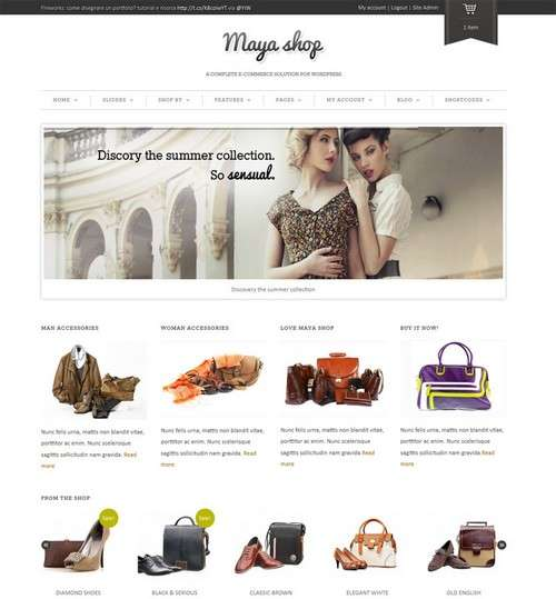 Mayashop WordPress Theme