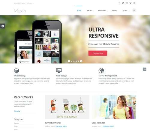 Mexin WordPress Responsive Theme