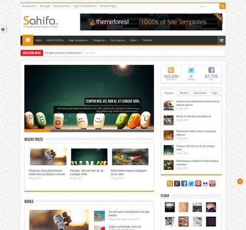 Sahifa WordPress Magazine Template