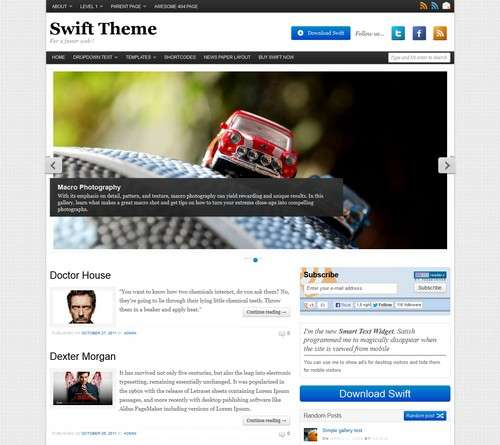 Swift WordPress Magazine Theme