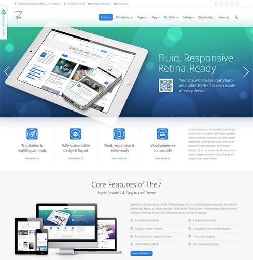 The7 Responsive WordPress Theme 2014
