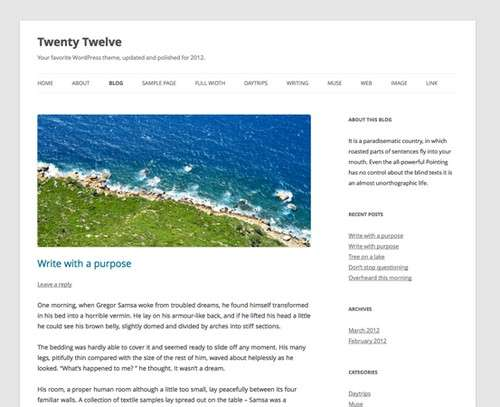 Twenty Twelve Free WP Theme