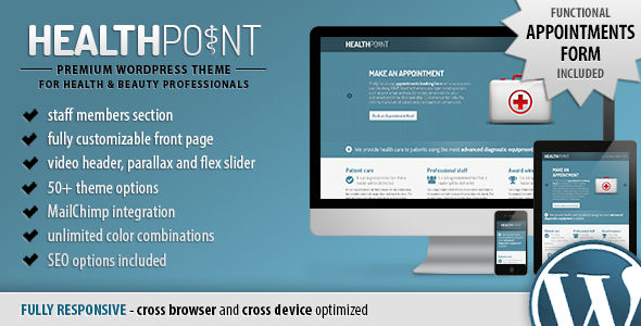 Health Point - Responsive WordPress Landing Page - Health & Beauty Retail