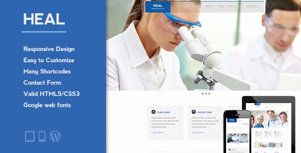 HEAL - Responsive Medical WordPress Theme - Health & Beauty Retail
