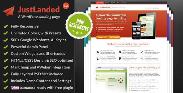JustLanded WordPress Theme