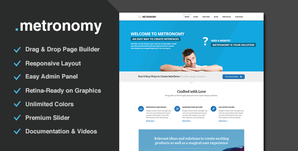 Metronomy - Responsive Multi-Purpose Theme - Corporate WordPress