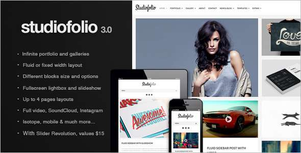 Studiofolio WordPress Theme