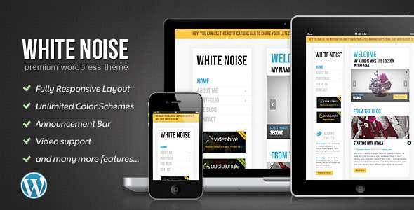 White Noise - Responsive WordPress Theme - Portfolio Creative