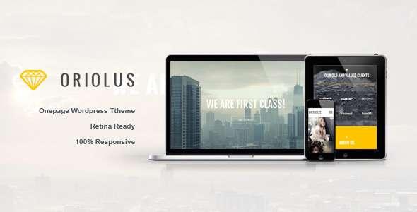 Oriolus -  Responsive Onepage WordPress Theme - Portfolio Creative